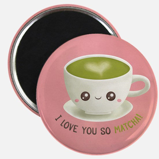 I Love You So Matcha Green Tea Latte Pun Magnets