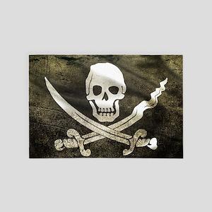 Pirate Flag 4' x 6' Rug