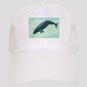 whale drawing Cap