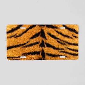 Tiger Fur Aluminum License Plate