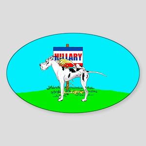 Harle Dane Pi$$ on Hillary Oval Sticker