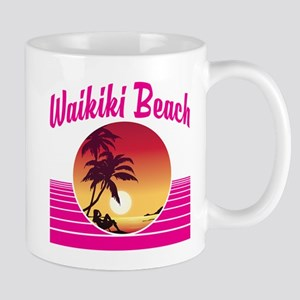 Waikiki Beach Hawaii Mugs