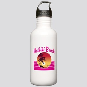 Waikiki Beach Hawaii Stainless Water Bottle 1.0L