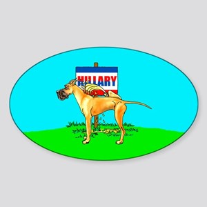 Fawn Dane Pi$$ on Hillary Oval Sticker