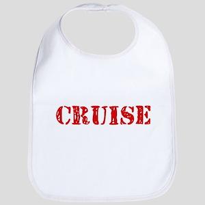Cruise Retro Stencil Design Baby Bib