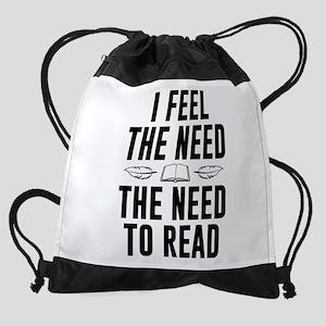 need to read Drawstring Bag