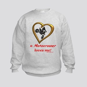 """A Motocrosser Loves Me"" Kids Sweatshirt"