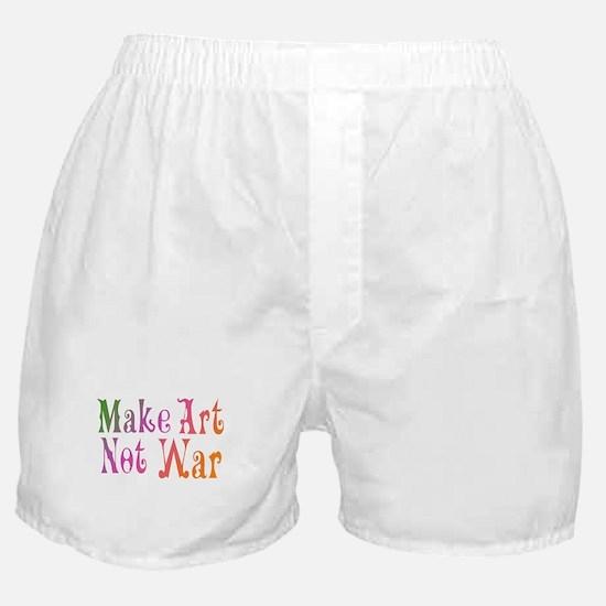 Make Art Not War Boxer Shorts