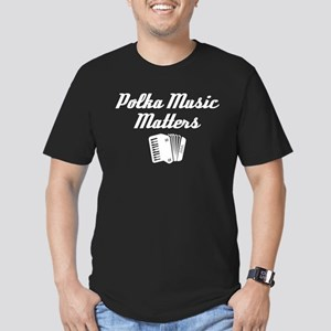 Polka Music Matters Men's Fitted T-Shirt (dark)