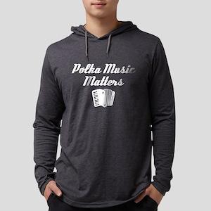 Polka Music Matters Mens Hooded Shirt