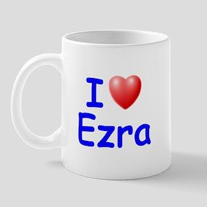 I Love Ezra (Blue) Mug