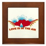 Love is in the Air Framed Tile