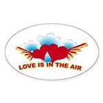 Love is in the Air Oval Sticker