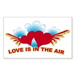 Love is in the Air Rectangle Sticker