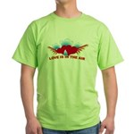 Love is in the Air Green T-Shirt