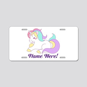Personalized Custom Name Unicorn Girls Aluminum Li
