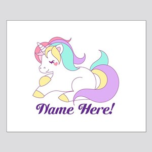 Personalized Custom Name Unicorn Girls Posters