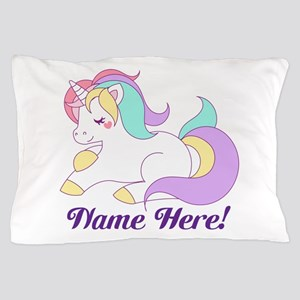 Personalized Custom Name Unicorn Girls Pillow Case
