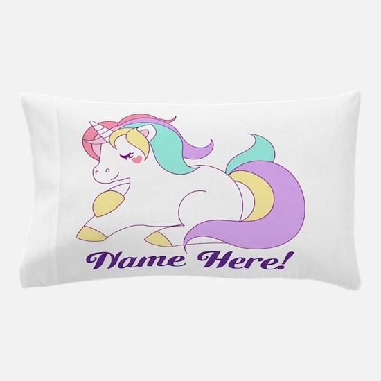 Personalized Custom Name Unicorn Girls Pillow Case