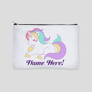 Personalized Custom Name Unicorn Girls Makeup Bag