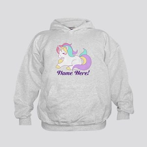 Personalized Custom Name Unicorn Girls Sweatshirt