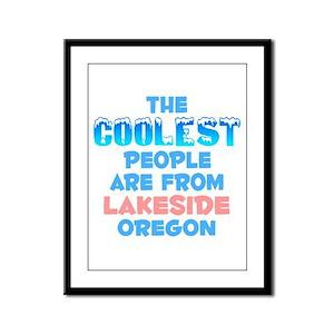 Coolest: Lakeside, OR Framed Panel Print