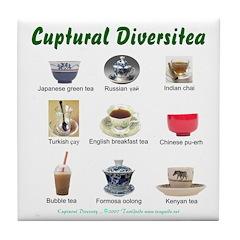 Cuptural Diversitea Tile Coaster