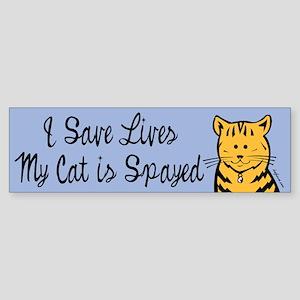 My Cat is Spayed Bumper Sticker
