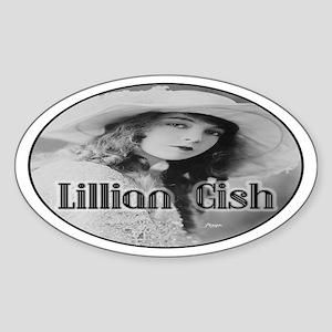 Lillian Gish Oval Sticker