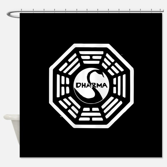 Lost Dharma Swan Shower Curtain