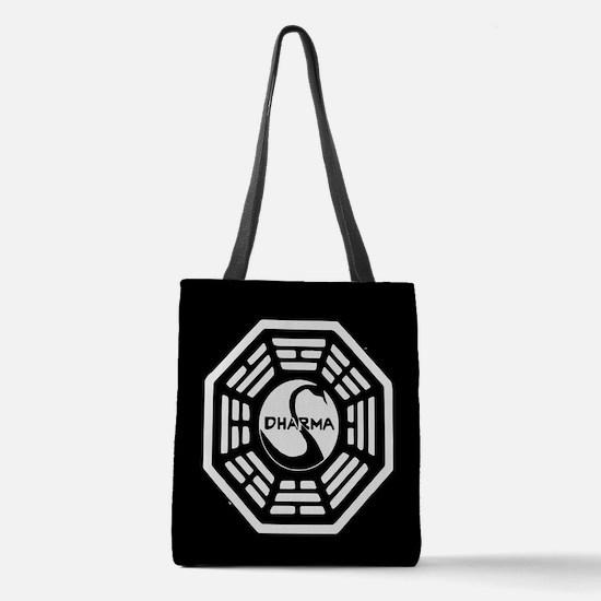 Lost Dharma Swan Polyester Tote Bag