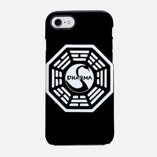 Lost Dharma Swan iPhone 8/7 Tough Case
