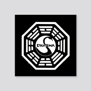 "Lost Dharma Swan Square Sticker 3"" x 3"""