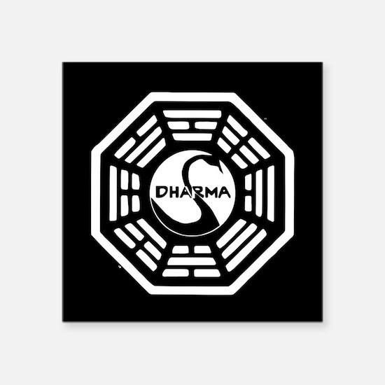 "Lost Dharma Swan Square Sticker 3"" x 3"""