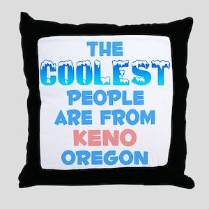 Coolest: Keno, OR Throw Pillow