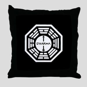 Lost Dharma Arrow Throw Pillow