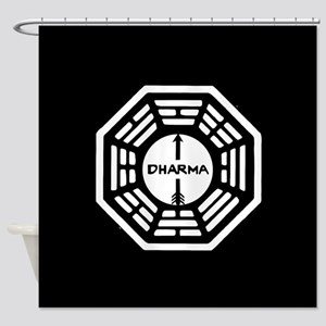 Lost Dharma Arrow Shower Curtain