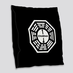 Lost Dharma Arrow Burlap Throw Pillow
