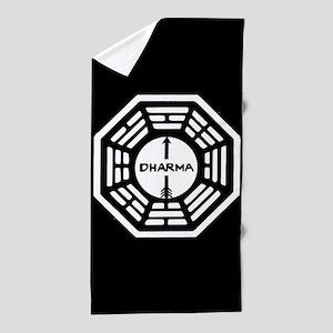 Lost Dharma Arrow Beach Towel