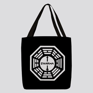 Lost Dharma Arrow Polyester Tote Bag