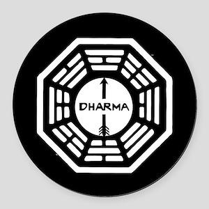 Lost Dharma Arrow Round Car Magnet