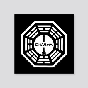 "Lost Dharma Arrow Square Sticker 3"" x 3"""