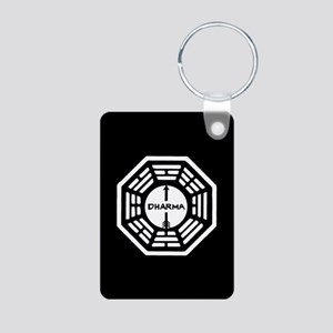 Lost Dharma Arrow Aluminum Photo Keychain