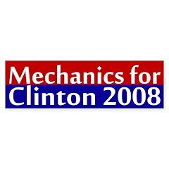 Mechanics for Clinton 2008 car sticker