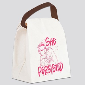 Rosie the Riveter - She Persisted Canvas Lunch Bag