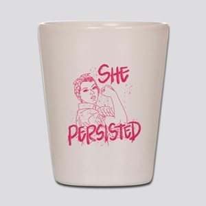 Rosie the Riveter - She Persisted Shot Glass