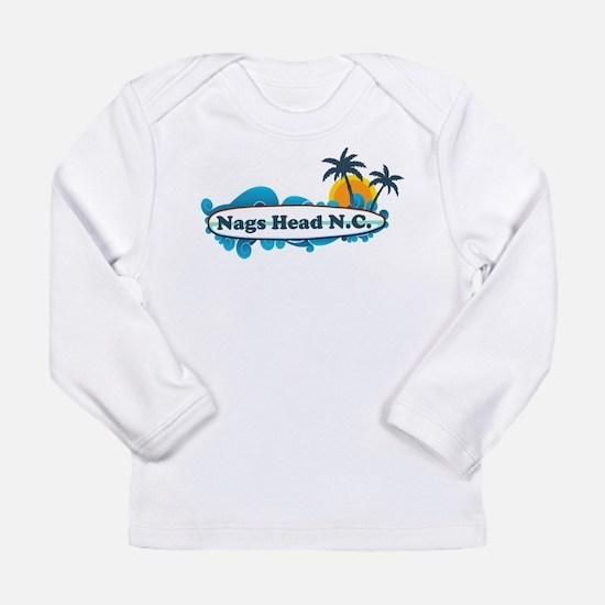 Nags Head NC - Surf Design Long Sleeve T-Shirt