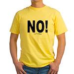 NO! Yellow T-Shirt