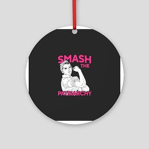 Rosie the Riveter - Smash the Patri Round Ornament