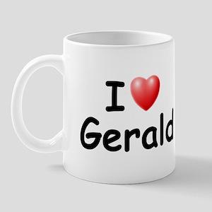 I Love Gerald (Black) Mug